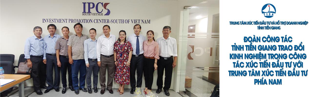 Sở Kế hoạch và Đầu tư tỉnh Tiền Giang tổ chức đoàn công tác đến làm việc tại Trung tâm Xúc tiến đầu tư phía Nam.